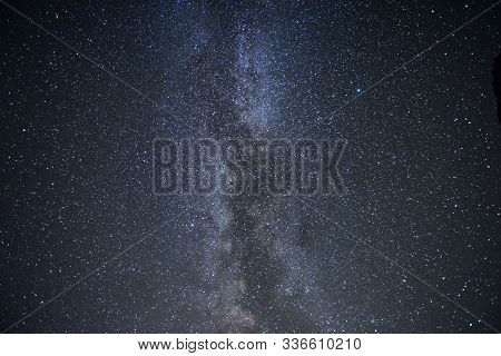 Majestic And Beautiful. Milky Way Galaxy With Stars And Space Dust In The Universe. Photoed On The N