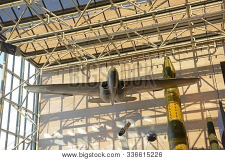 Washington Dc - Jun. 23, 2014: Airplanes In Smithsonian National Air And Space Museum In Washington,