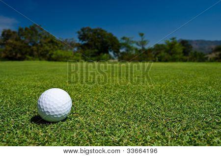 A Golf Ball In  A Beatiful View