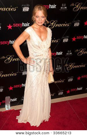 BEVERLY HILLS, CA - MAY 21: Jeri Ryan arives at the Gracie Awards Gala on May 21, 2012 at the Beverly Hilton Hotel in Beverly Hills, California.