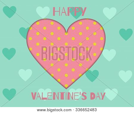 Valentines day postcard, Valentines day, February 14 vector. Valentine, valentine day, Valentines Day background, Valentine's day banners, Valentines Day flyer, Valentines Day design, Valentines Day with Heart on pink background, Copy space text area, vec
