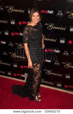 BEVERLY HILLS, CA - MAY 21: Zoraida Sambolin arives at the Gracie Awards Gala on May 21, 2012 at the Beverly Hilton Hotel in Beverly Hills, California.