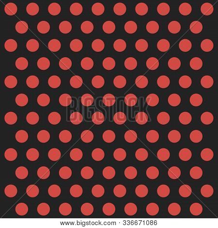 Christmas And New Year Pattern Polka Dots. Template Background In Red And Black Polka Dots . Seamles