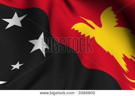 Rendered Papua New Guinea Flag