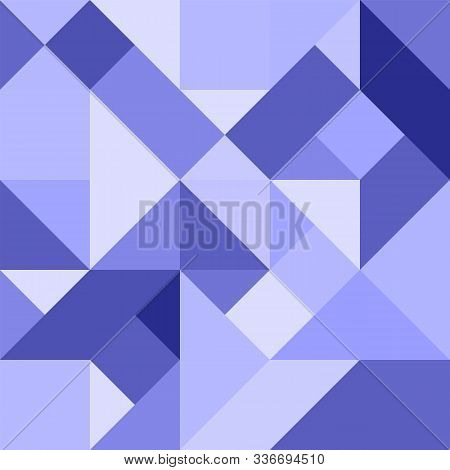 Abstract Geometric Background In Blue Tones For Design And Decoration Of Flyer, Booklets, Textiles A
