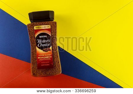New York Ny Nov 29 2019: Instant Granulated Coffe Nescafe Is A Brand Of Coffe Made By Nestle