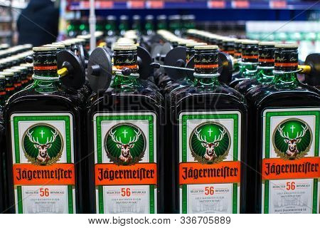 Tyumen, Russia-november 05, 2019: German Digestif, Made From 56 Herbs And Spices, Is The Flagship Pr