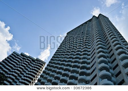 Worm's Eye View Of A Condo