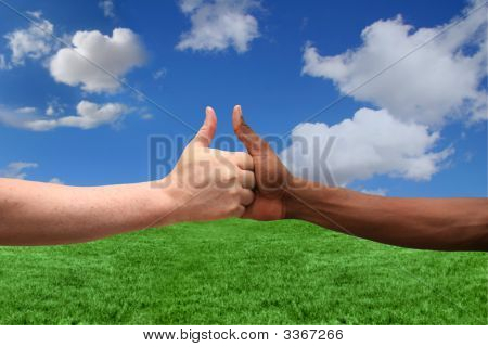 Two Ethnicities Agreeing On One Idea