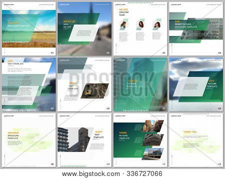 Minimal Brochure Template With Unique Fresh Colorful Geometric Design. Covers Design Templates For S