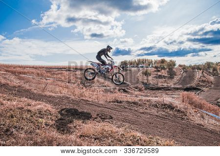 Motocross Rider In Action