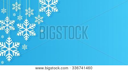 Winter Background. Snowflakes Background. Winter Background Images. Flat Snowflakes . Flat Winter Ba