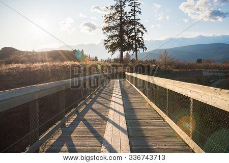 Trestle Bridge On The Kettle Valley Rail Trail In Penticton