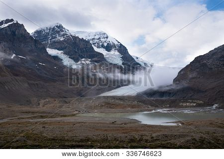Panoramic Image Of The Columbia Icefield, Icefield Parkway, Jasper National Park, Alberta, Canada
