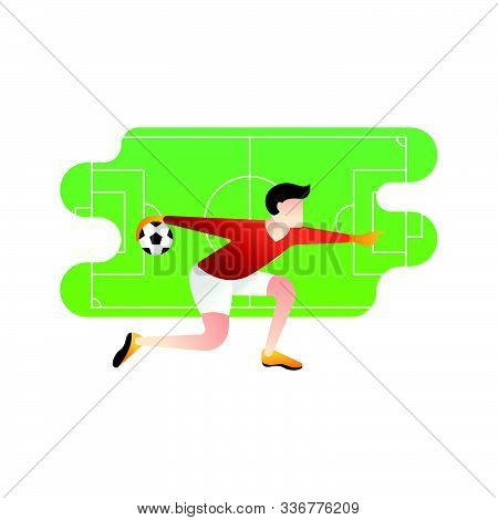 Soccer. Footbal. Football icon, Football Logo, Football Vector, Football Player Vector, Football Team Vector. Football illustration, Sport background. Football background, sport illustration. Football Flat design. Football player vector isolated on white