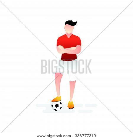 Soccer. Footbal. Soccer icon, Soccer Logo, Soccer Vector, Soccer Player Vector, Soccer Team Vector. Soccer illustration, Sport background. Soccer background, sport illustration. Soccer Flat design. Soccer player isolated on white background.