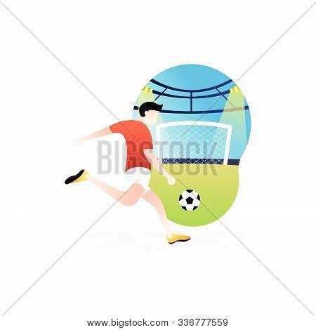 Soccer. Footbal. Football icon, Football Logo, Football Vector, Football Player Vector, Football Team Vector. Football illustration, Sport background. Football background, sport illustration. Football Flat design. Football player vector isolated on white
