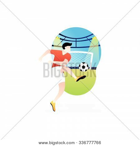 Soccer. Footbal. Soccer icon, Soccer Logo, Soccer Vector, Soccer Player Vector, Soccer Team Vector. Soccer illustration, Sport background. Soccer background, sport illustration. Sport Soccer Football Player Vector. Soccer player isolated on white backgrou