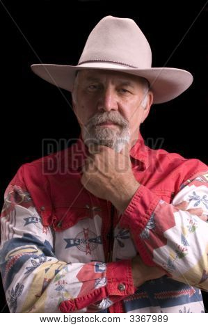 Old Cowboy Looking Like Buffalo Bill