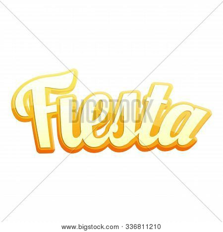 Fiesta Gold Text Icon. Cartoon Of Fiesta Gold Text Vector Icon For Web Design Isolated On White Back