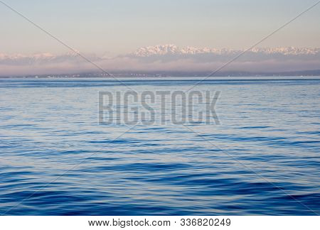 View Of Puget Sound With Olympic Peninsula At Sunset