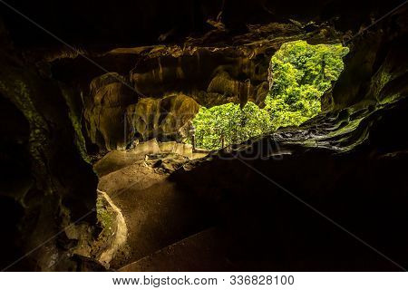 The Entance To The Trung Trang Cave Cat Ba Vietnam