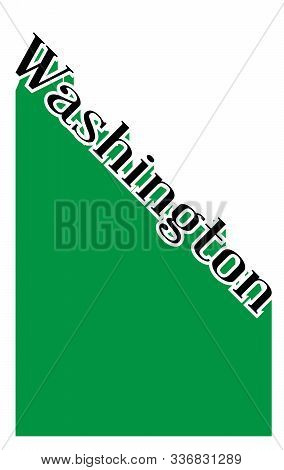 Text In Black And White Proclaiming Washington With A Shadow Backdrop
