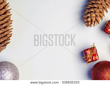 New Years Decorations Border With A Clean Colored Page