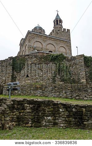 The Fortress Of Tsarevets Is A Medieval Stronghold Located On A Hill With The Same Name In Veliko Ta