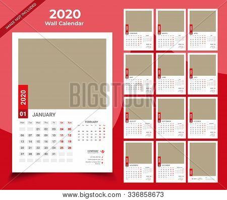 Calendar 2020 Templates In Vecto Design Illustration 12
