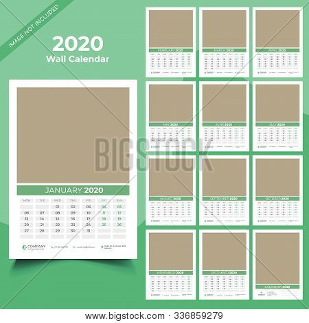Calendar 2020 Templates In Vecto Design Illustration 15