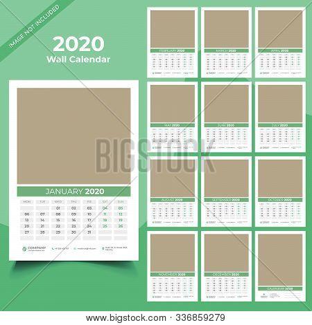 Calendar 2020 Templates In Vecto Design Illustration 15