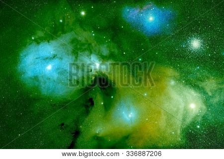 A Beautiful Distant Galaxy Of Green Color. Elements Of This Image Were Furnished By Nasa. For Any Pu
