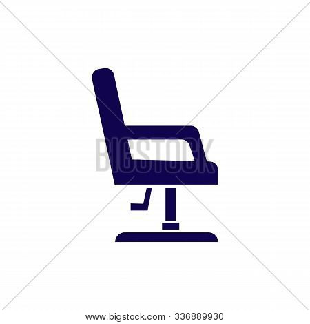 Boss Or Ceo Chair. Leather Armchair. Office Furniture Seat. Wheelchair. Vector Illustration In Flat