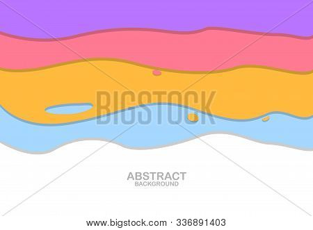 A Colorful Trendy Card Design. Hand Drawn Creative Flayer, Abstract Design Poster, Cover, Banner, Ba
