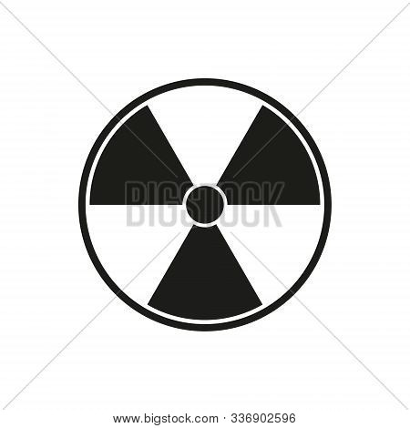 Vector Illustration Of Radiation Sign In Circle. Isolated.