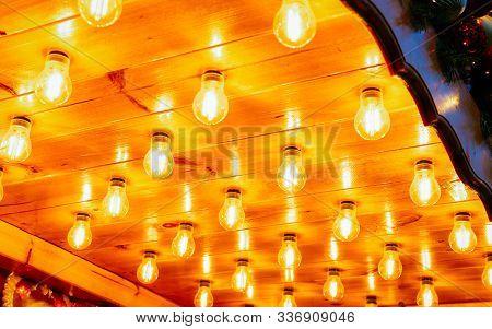 Lights On Night Christmas Market At Charlottenburg Palace In Berlin Reflex