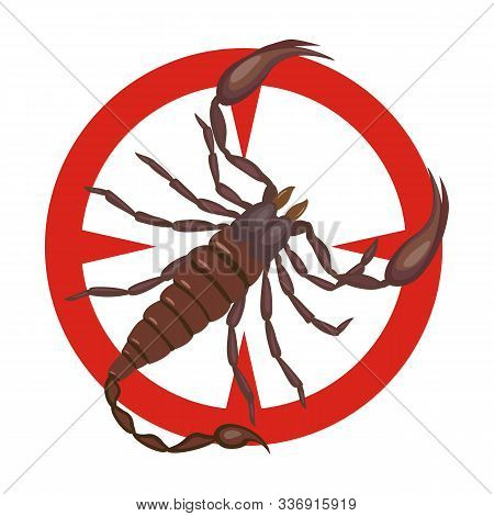 Scorpion Vector Icon.cartoon Vector Icon Isolated On White Background Scorpion.