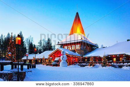 Snowman Santa Office In Santa Village Rovaniemi Lapland New