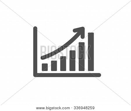 Column Chart Sign. Graph Icon. Growth Diagram Symbol. Classic Flat Style. Simple Graph Chart Icon. V