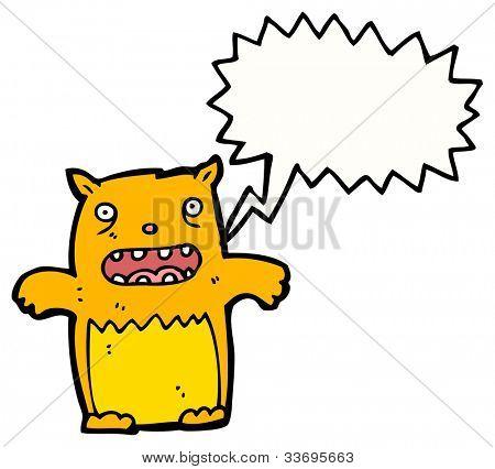 funny yowling cat cartoon