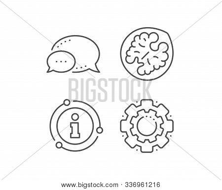 Walnut Line Icon. Chat Bubble, Info Sign Elements. Tasty Nut Sign. Vegan Food Symbol. Linear Walnut