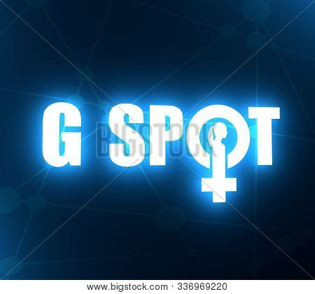 Metaphor Of Exploring Female Sexuality. Spot-g Erogenous Zone Emblem. Female Sign Icon. Silhouette O