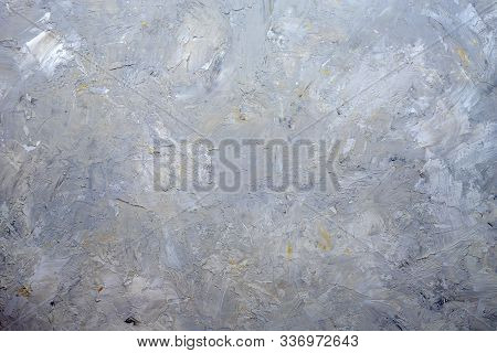 Gray Painted Textured Background, Stone Beton Plaster Stucco Structure