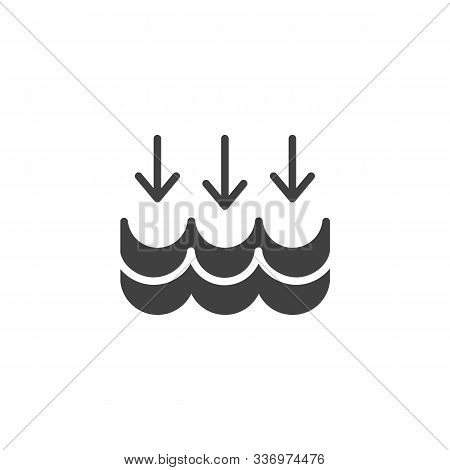 Water Cycle Vector Icon. Filled Flat Sign For Mobile Concept And Web Design. Water Waves And Arrows