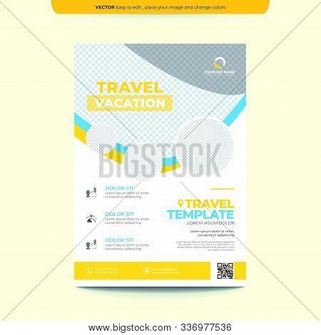 Travel Flyer Template Layout Design. Business Flyer, Brochure, Catalog, Magazine. Creative Modern Br