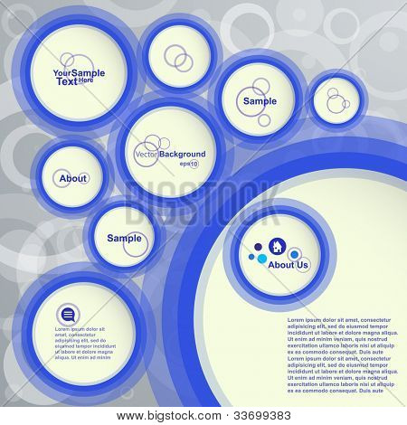 Abstract Design Bubble Background, Vector