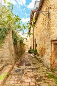 Tuscan Medieval Village Monticchiello Tuscany Italy Picturesque Villages poster
