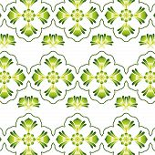 Illustration of a green vintage seamless pattern wallpaper. poster