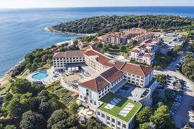 Pula, Croatia - November 25, 2019: An Aerial Shot Of Park Plaza Hotel Resort In Pula, Istria, Croati